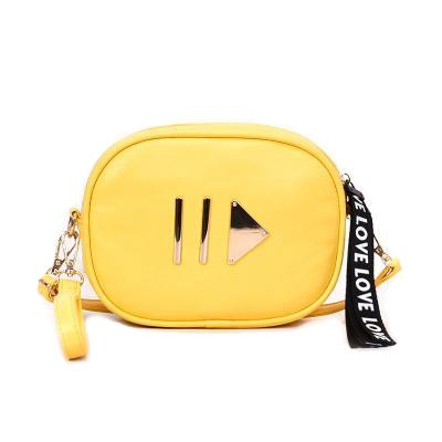 Yellow Play Button Fanny Pack
