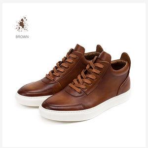 Genuine cow leather sport shoe boots