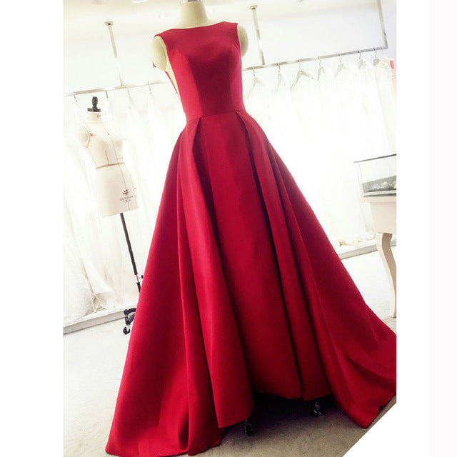 Backless Evening Gown