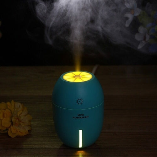 180ml Lemon Shaped USB Air Humidifier with LED Lamp Aromatherapy Diffuser