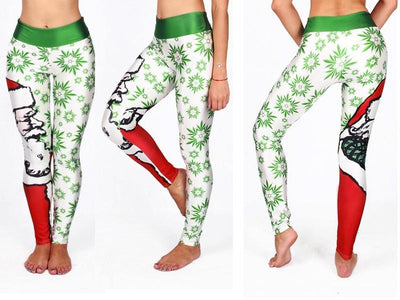 FGL Christmas Leggings - Santa Claus Trees - Fit Girls Land