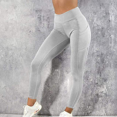 Fit Girls Land Gray / L FGL-High Waist Pocket leggings