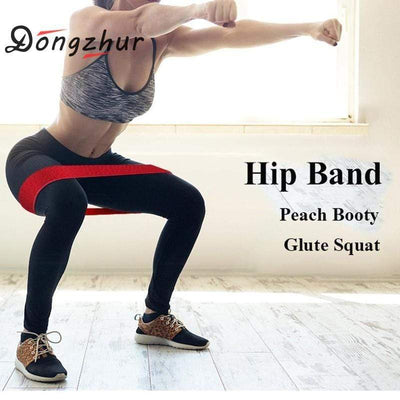 Fit Girls Land Hip Circle Deep Squat Hip Ring Elastic Band Fitness Rubber Band Female Resistance Circle Men's Yoga Sports Tension Belt
