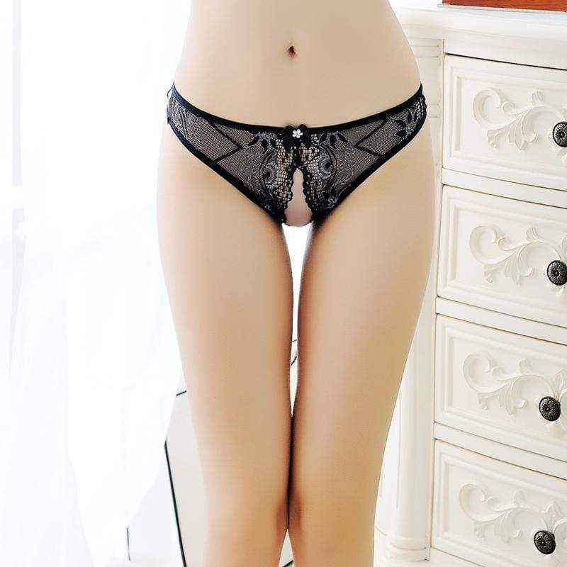 Fit Girls Land Lace Crotchless Panties