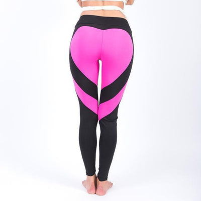 Fit Girls Land leggings Black Pink Heart / S Heart Splice Leggings