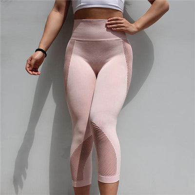 Fit Girls Land leggings lightpink / S FGL™ - Mesh Patchwork Leggings
