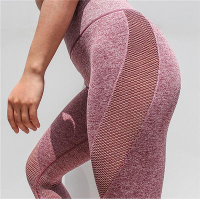 Fit Girls Land leggings palevioletred / S FGL™ - Mesh Patchwork Leggings