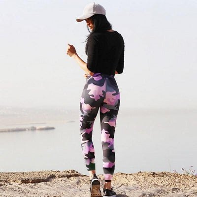 Pink Camo Leggings - Fit Girls Land