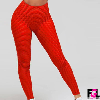 Fit Girls Land leggings Red / XS FGL™ - Anti Cellulite Leggings - Special offer