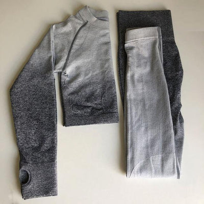 Fit Girls Land light_grey_and_dark_gray / S FGL™ - Seamless Gradient set