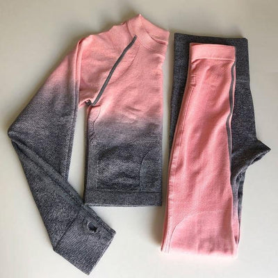 Fit Girls Land pink_and_grey / S FGL™ - Seamless Gradient set