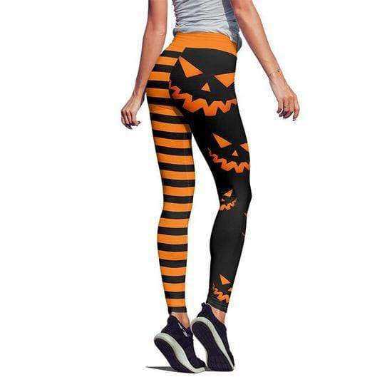 Fit Girls Land PUMPKIN HALLOWSTRIPES HIGH WAIST