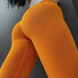 DEFINE SEAMLESS HIGH RISE - YELLOW - Fit Girls Land