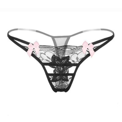 Fit Girls Land xs / Black Sexy Lace Thong
