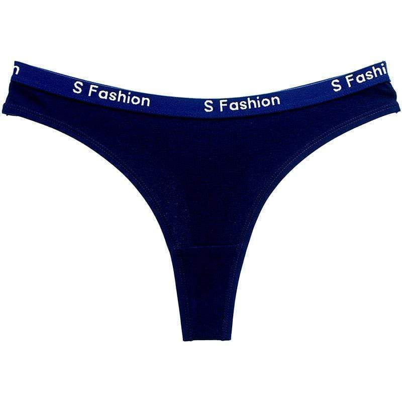 Fit Girls Land XS / MidnightBlue Letter Printed Thong
