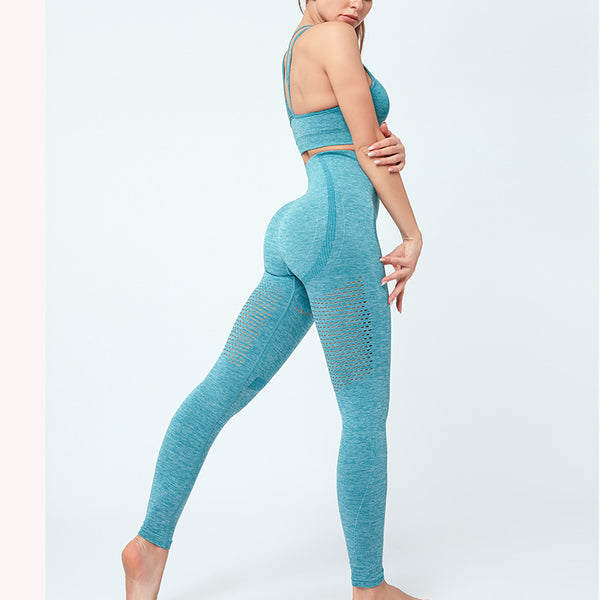 FGL - KRYSTAL LEGGINGS - TEAL - Fit Girls Land