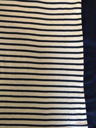 *NEW* XL Oatmeal & Navy stripe with Navy back
