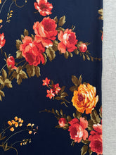 Navy Floral & Heather Grey