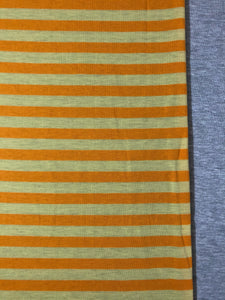 Yellow/Yellow Stripe & Heather Grey