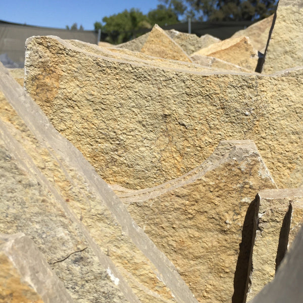 Limestone Flagstone -Golden Cream Stand Up