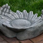 Summer Sunflower Birdbath