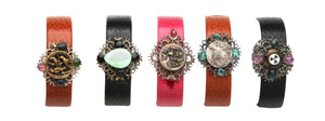 Vintage Leather & Lace Bracelets