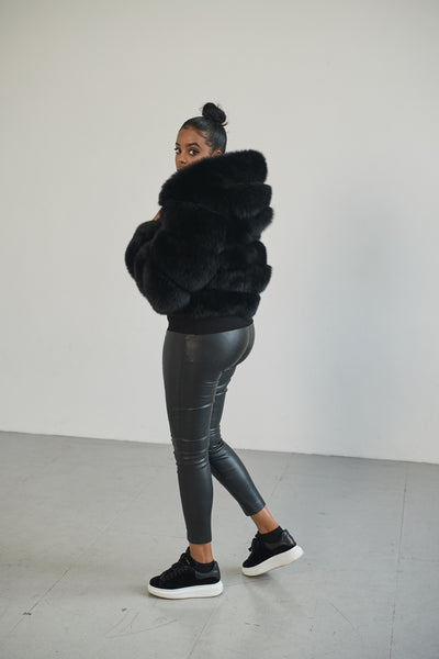 The Hooded Nella Coat in Black
