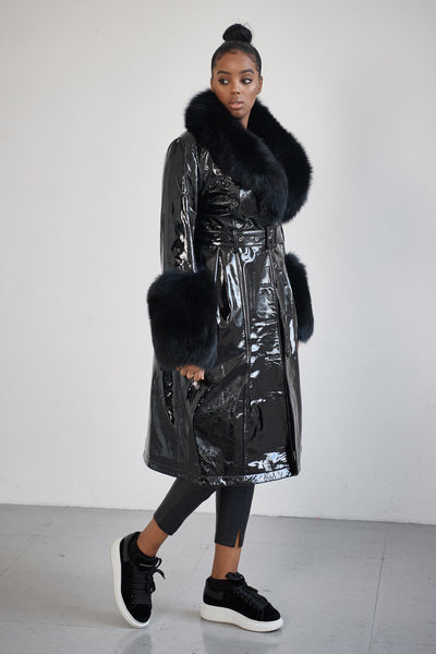 The Leather Mac Coat