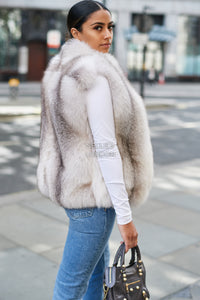 The Cross Island Fur Gilet