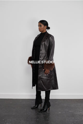 The Cuffed Trench Coat in 'Chocolate'