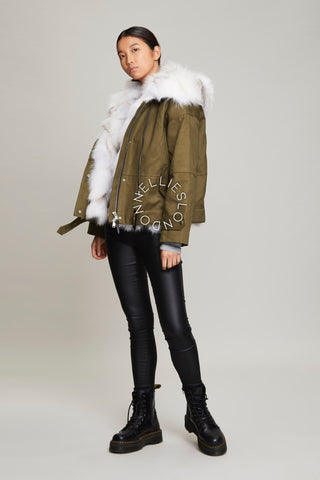 The White Fur Lined Parka