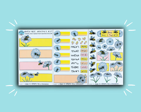 DIGITAL DOWNLOAD Busy Bee Monthly Kit