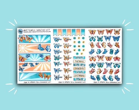 DIGITAL DOWNLOAD Butterfly Monthly Kit