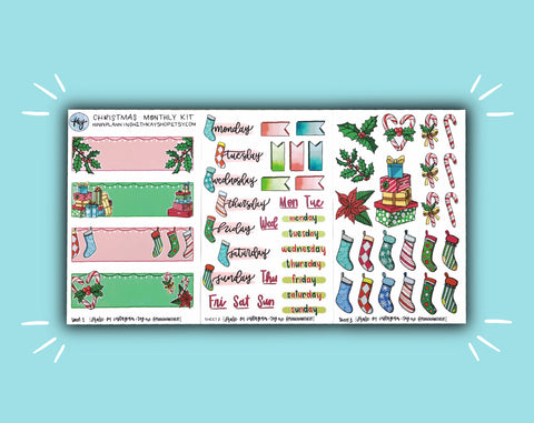 DIGITAL DOWNLOAD Christmas Monthly Kit