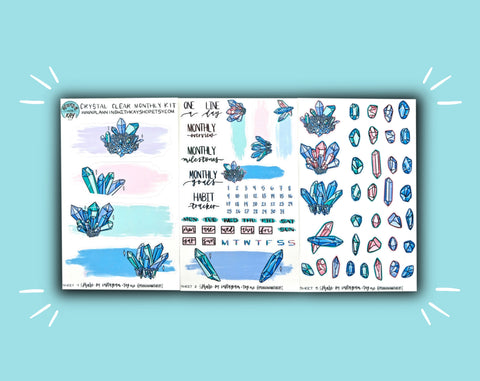 DIGITAL DOWNLOAD Crystal Clear Monthly Kit