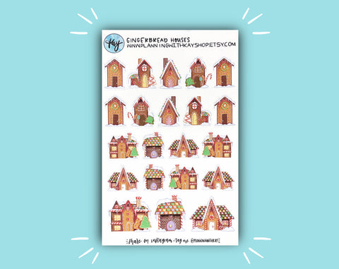DIGITAL DOWNLOAD Gingerbread Houses