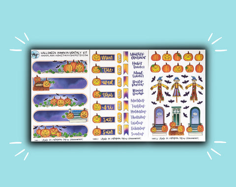 DIGITAL DOWNLOAD Halloween Pumpkins Monthly Kit