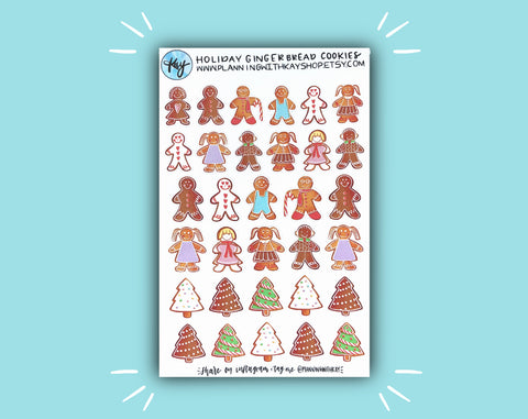 DIGITAL DOWNLOAD Holiday Gingerbread Cookies