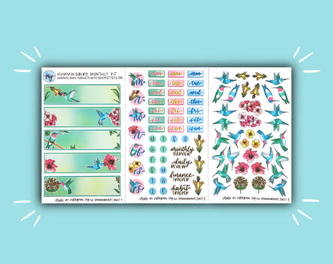 DIGITAL DOWNLOAD Hummingbird Monthly Kit