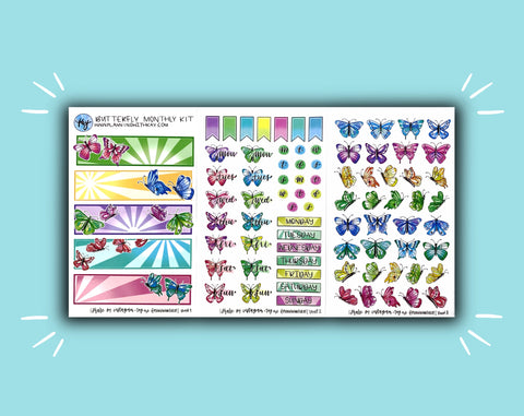 Rainbow Butterfly Monthly Kit