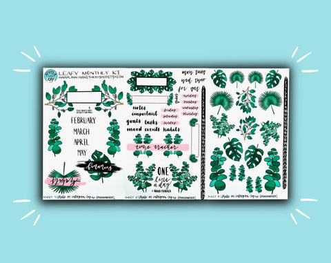 DIGITAL DOWNLOAD Leafy Monthly Kit
