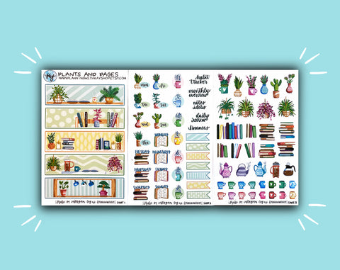 DIGITAL DOWNLOAD Plants and Pages Monthly Kit