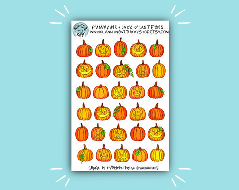 DIGITAL DOWNLOAD Pumpkins and Jack o' Lanterns