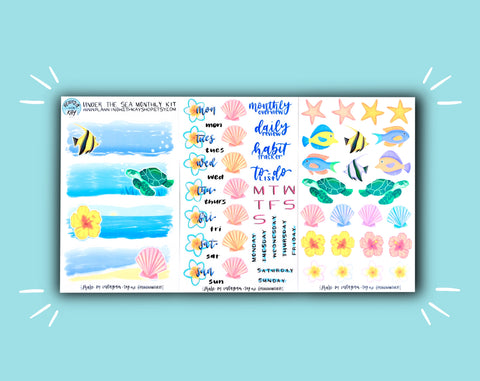 DIGITAL DOWNLOAD Under the Sea Monthly Kit