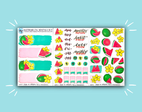 DIGITAL DOWNLOAD Watermelon Monthly Kit