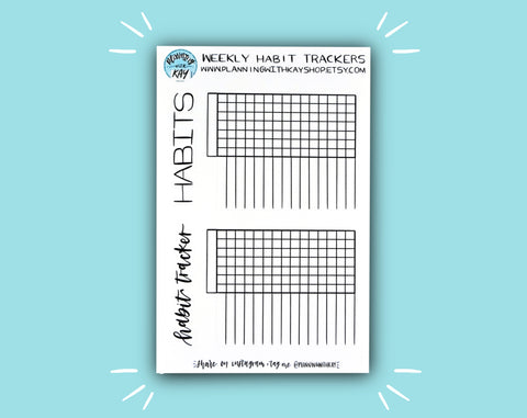 Weekly Habit Trackers