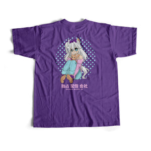 ANIME MILK MUSTACHE S/S TEE (PURPLE)