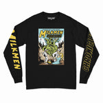 3 HEADED BEAST L/S TEE (BLACK)