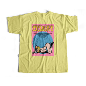 CATWOMAN COVER S/S TEE (YELLOW)