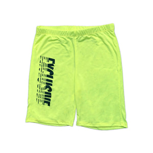 WOMENS EXCLUSIVE BIKER SHORTS (SAFETY GREEN)